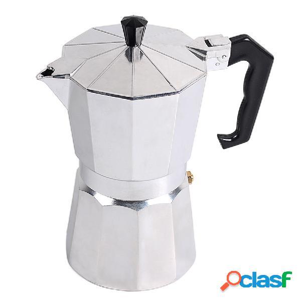 Stovetop cafeteira de alumínio mocha espresso cafeteira cafeteira máquina de café mocha pote
