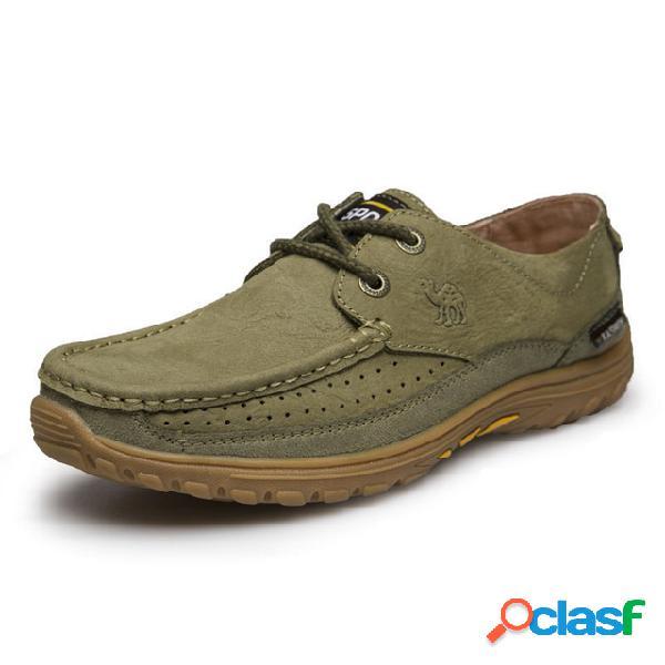Sapatos casuais masculinos de negócios couro camurça masculino couro fosco com laço sapatos casuais sapatos esportivos masculinos