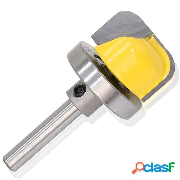 1/4 polegada rolamento de topo da haste flush router bit fresagem cortador de fundo inoxidável ferramenta de trabalho em madeira