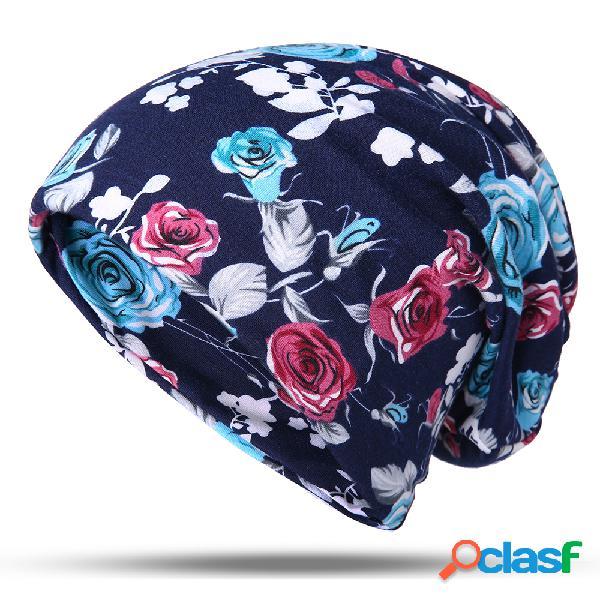 Mulheres malha quente algodão gorro chapéu suor à prova de vento casual ao ar livre multi-função cachecol quente