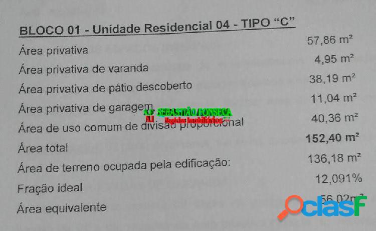 Casa 2 Dormitórios em Condomínio Bairro Jardim Santa Júlia- SJC 2