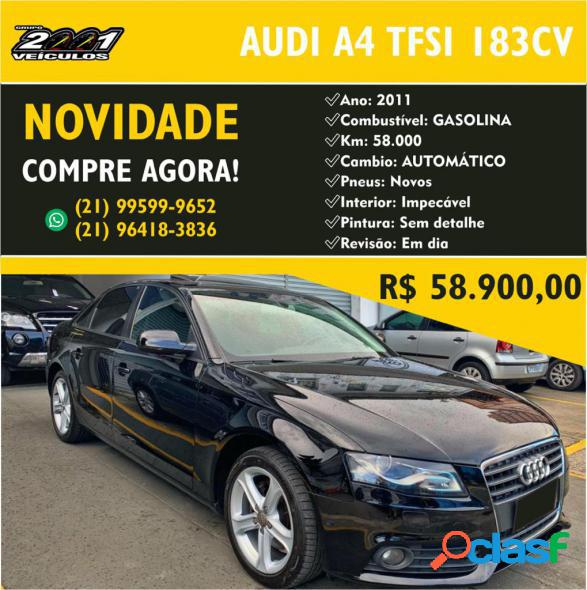 Audi a4 2.0 16v tfsi 183180cv multitronic preto 2011 2.0 gasolina