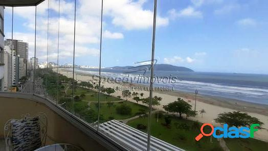 Apartamento orla da praia de Santos com vista mar.