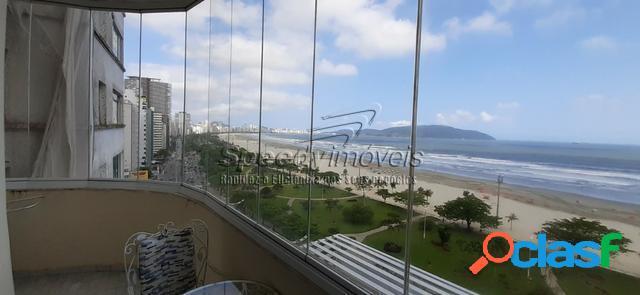 Apartamento orla da praia de Santos com vista mar. 1