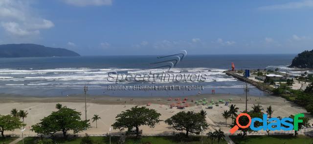 Apartamento orla da praia de Santos com vista mar. 2