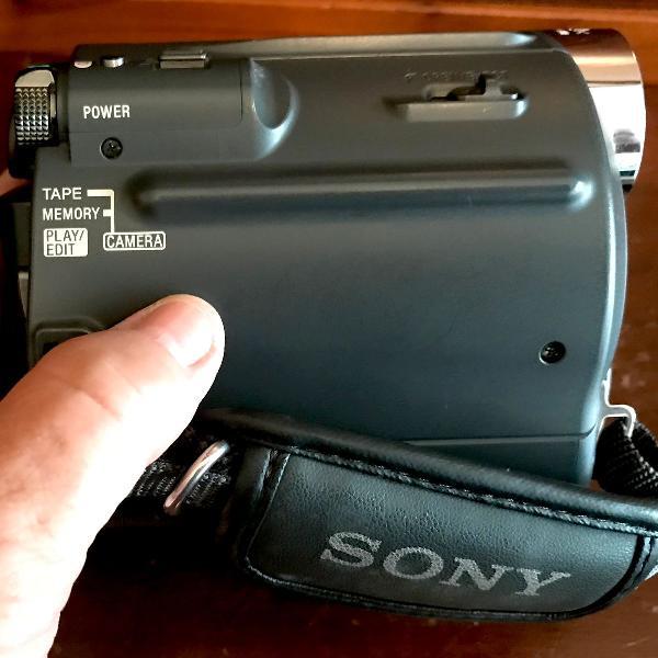 Câmera de vídeo sony handycam mini-dv