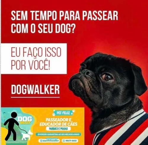 Dog walker e educador pet feliz