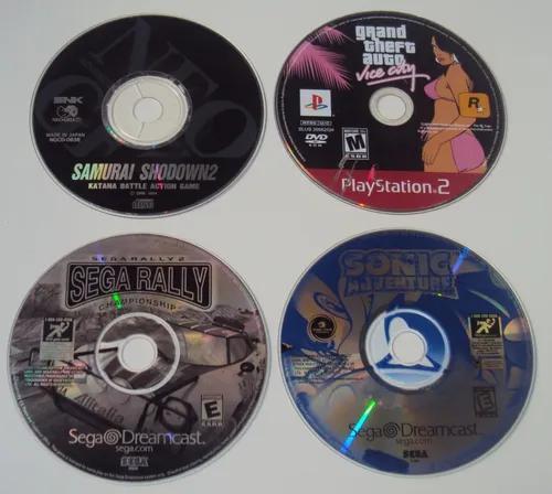 Lote Com 4 Mídias De Jogos Originais Com Defeito