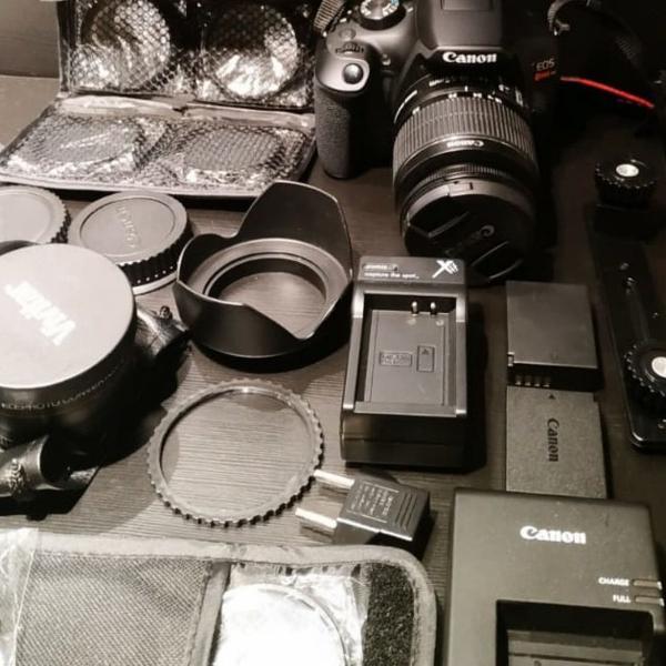 Cânon, câmera canon rebel t5i + kit completo
