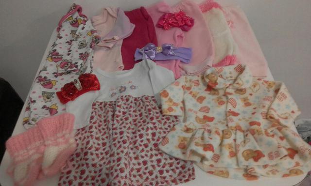 30 peças bebê menina g/4a8 meses
