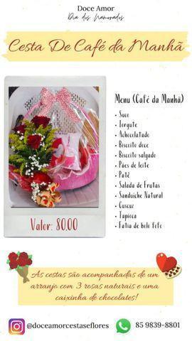 Cafe p/seu amor + rosas + chocolate r$ 80