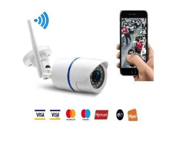 Camera ip externa wi-fi infra vermelho visao noturna hd