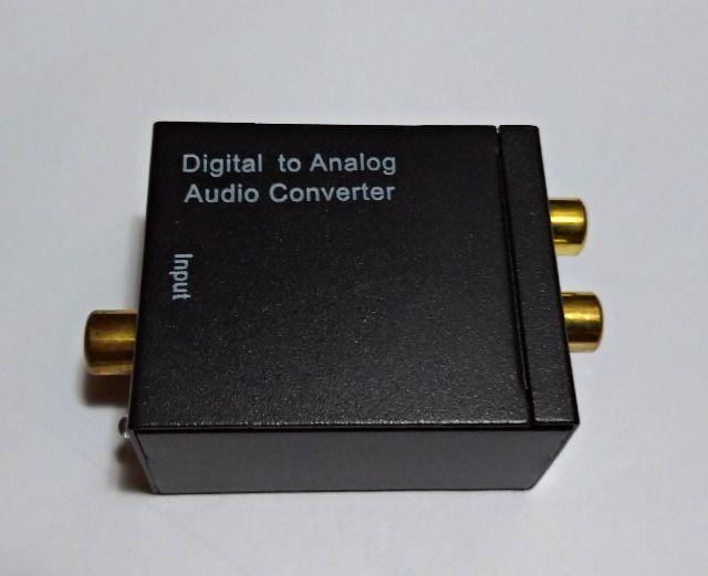 Conversor áudio optico digital p/ rca analógico