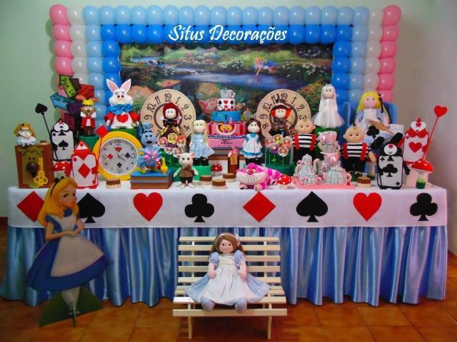 Decoração da alice no país das maravilhas festa infantil