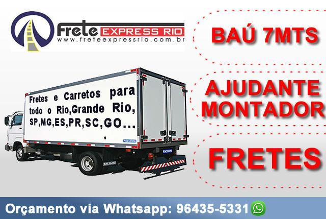 Mudanças caminhão baú de 6.5mts (grande) / ajudante e