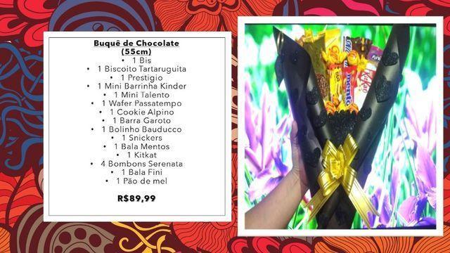 Presente dia dos namorados buquê de chocolate