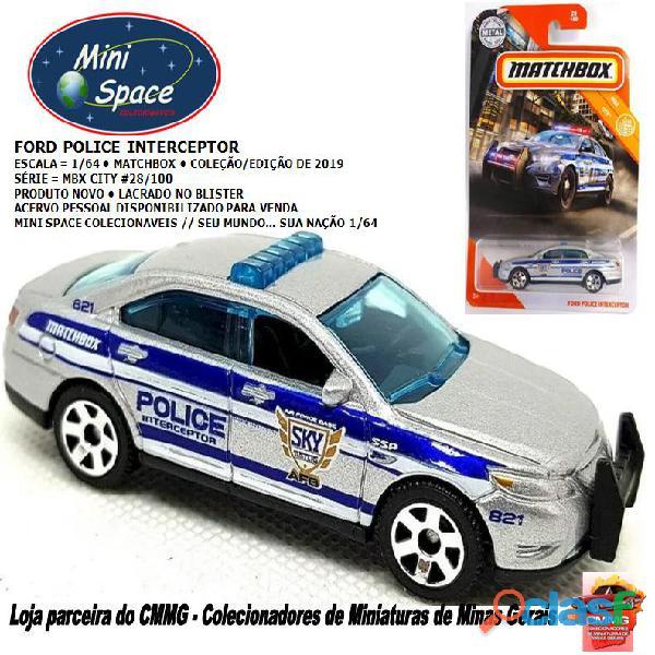 Matchbox ford interceptor polícia 1/64