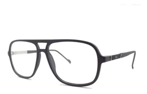 Armação de grau oculos grande azul fosco 243 c2