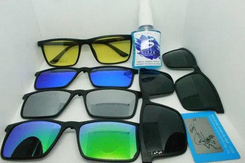 Armação de óculos p/ grau c/ 6 clipon polarizado - uv 400