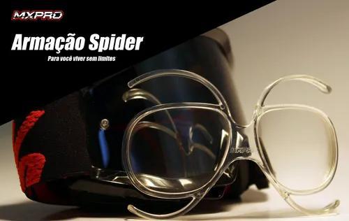 Armação p/ óculos off-road - armação mxpro spider