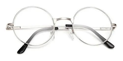 Armação óculos redondo prata dsm retro vintage original
