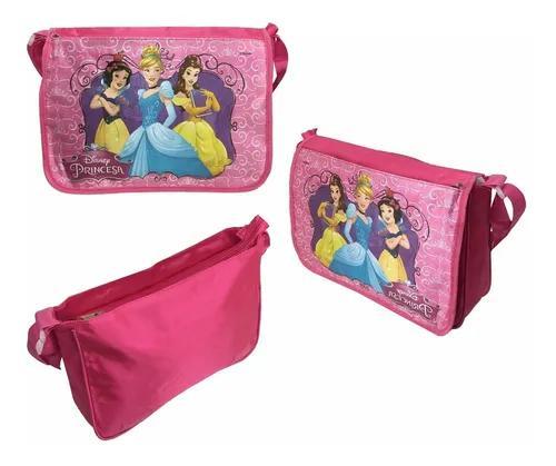 Bolsa infantil princesas rosa com alça transversal original