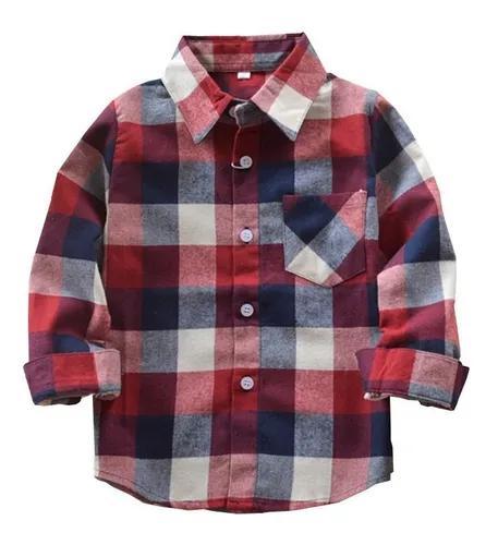 Camisa xadrez criança menino infantil