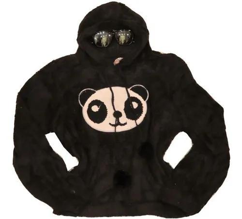 Casaco blusa d frio infantil menina criança moletom panda