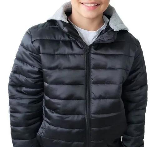 Jaqueta criança infantil casaco frio capuz tam 04 ao 14