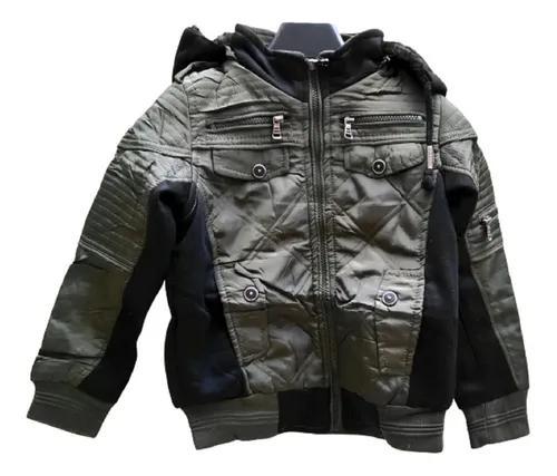 Jaqueta masculina infanti couro outono-inverno nylon moletom