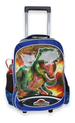 Kit mochila roda+lanch +estojo dinossauro vozz/mc4032