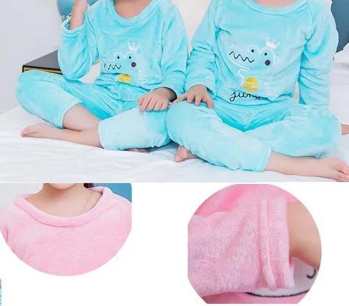 Pijama infantil criança térmico peludinho fleece flanelado
