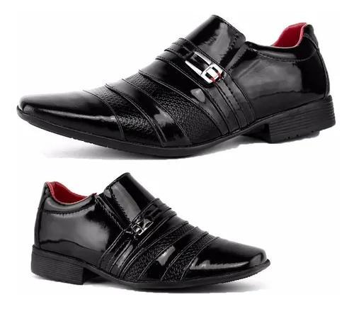 Sapato social masculino criança infantil adulto dois pares