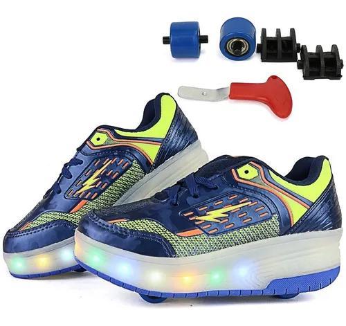 Tênis de rodinha para crianças roller lançament frete
