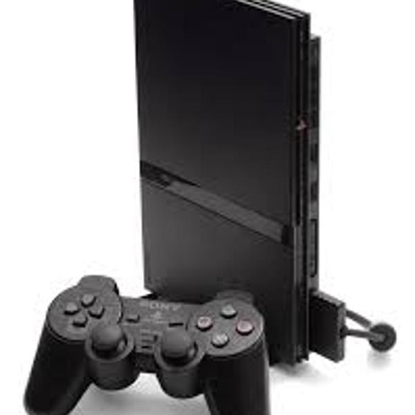 Video game ps2 com bolsa e 1 controle