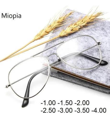 Culos miopia aviador prata lente inclusa (grau -3,00)