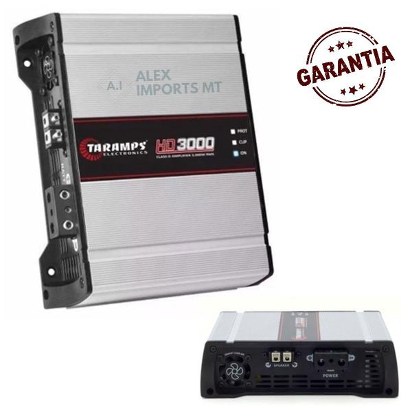 Modulo taramps hd 3000 1 canal 3000 4 ohms amplificador