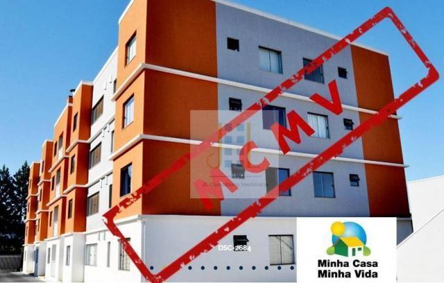 Apartamento mcmv dois quartos em pinhais sacada