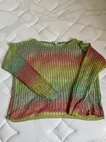 Blusa de fio colorida, tam m