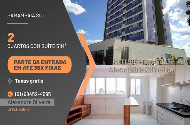 Residencial ilha azul - 2 qts 51m² com suite - taxas gratis