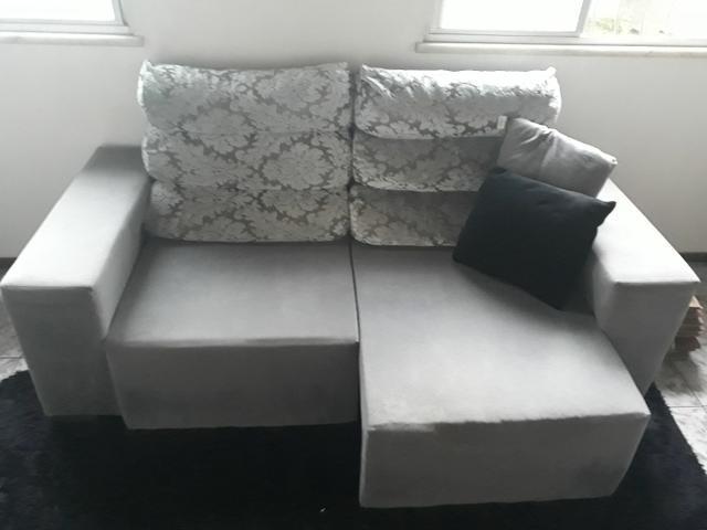 Sofá retrátil e reclinável seminovo