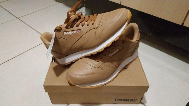 Tênis reebok classic leather, 100% couro legítimo, novo e