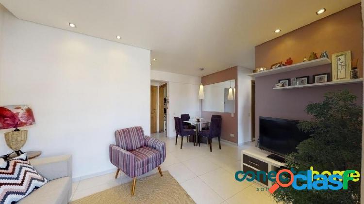 Apartamento semi mobiliado de 61 m², 2 dormitórios e 1 vaga na vila antonio