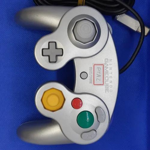 Controle original prata nintendo game cube gc
