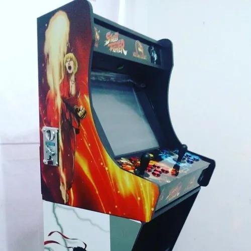 Fliperama completo tela 19 com moedeiro - 1500 jogos arcade