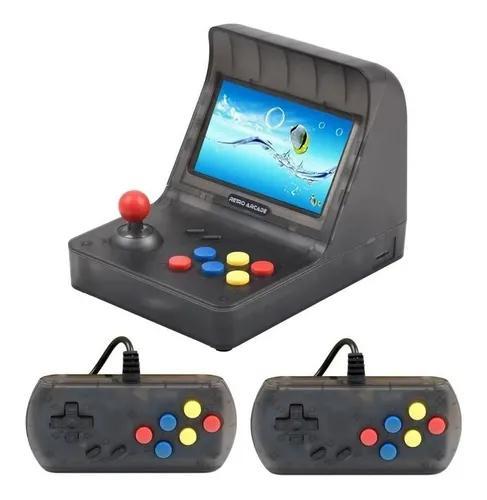 Mini Game Retro Arcade Mini Fliperama Tela 4.3 + 3.000 Jogos