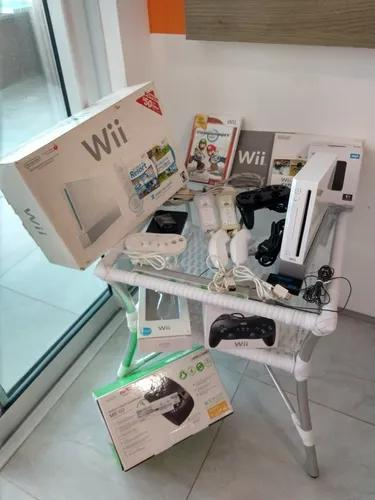 Nintendo wii kit completo gamecube retrocompatível
