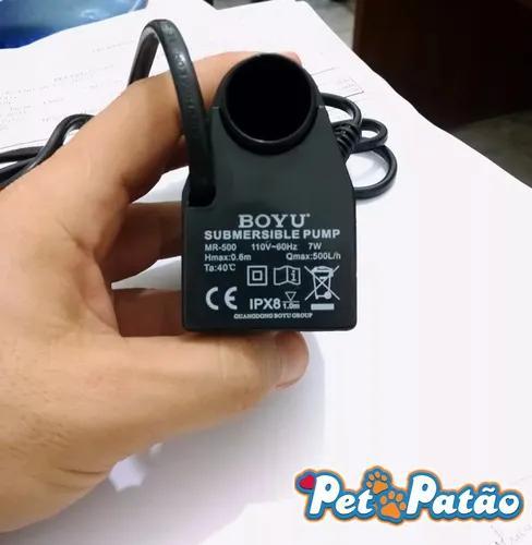 Boyu bomba mr-500 p/ aquarios zj - lj - byg - mr 127v c/ nf