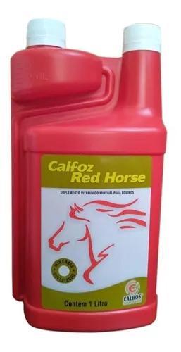 Calfoz red horse 1 lt - calbos (cálcio oral p/ equinos)