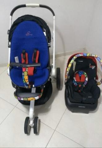 Carrinho + bebê conforto + moisés quinny mood